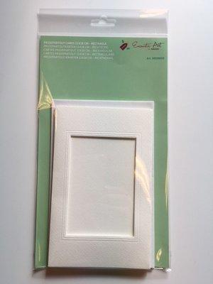 Passepartout rechthoek luxe A6 11 x 18 cm